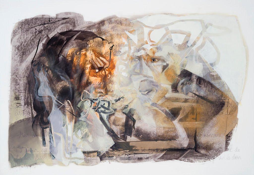 Montre-toi, acrylique sur mylar, 72 x 101 cm, 2016