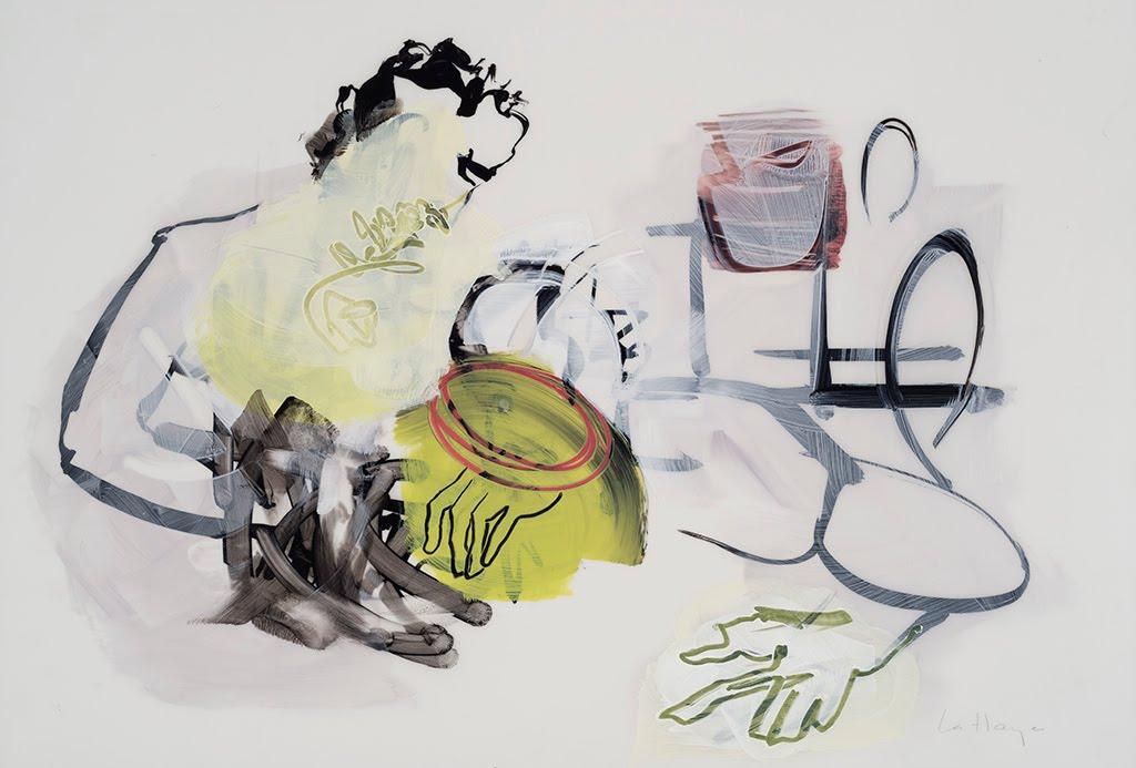 Hallucinant, acrylique et crayon sur mylar, 35 x 50 cm, 2016