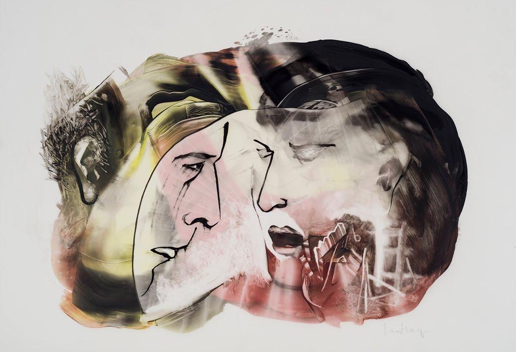 Entends-moi, acrylique sur mylar, 35 x 50 cm, 2016