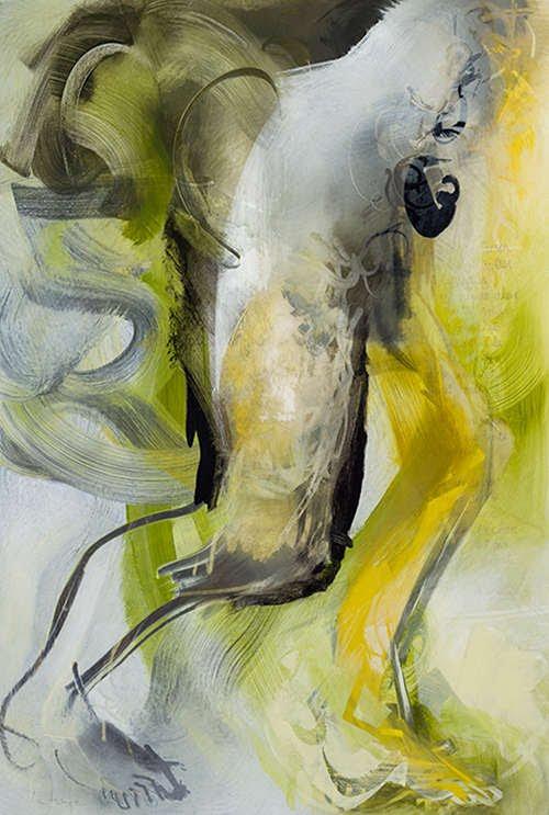 Translucide 83, acrylique sur mylar, 160 x 108 cm, 2012