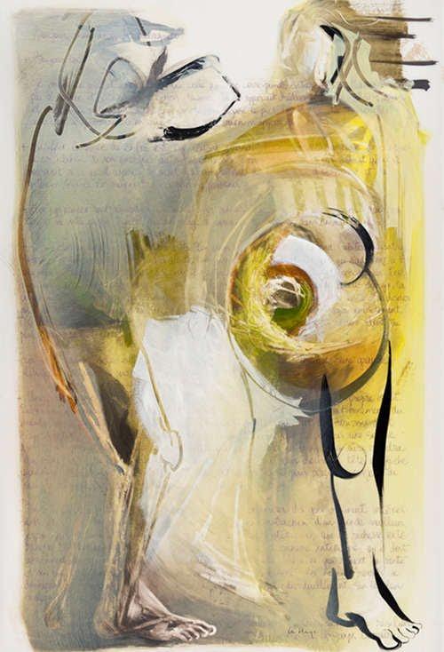 Translucide 76, acrylique sur mylar, 160 x 108 cm, 2012