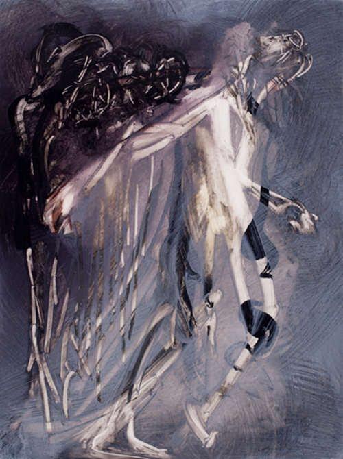 Translucide 55, acrylique sur mylar, 42 x 30 cm, 2011