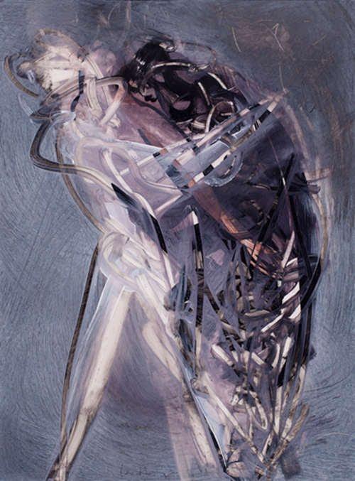 Translucide 52, acrylique sur mylar, 42 x 30 cm, 2011