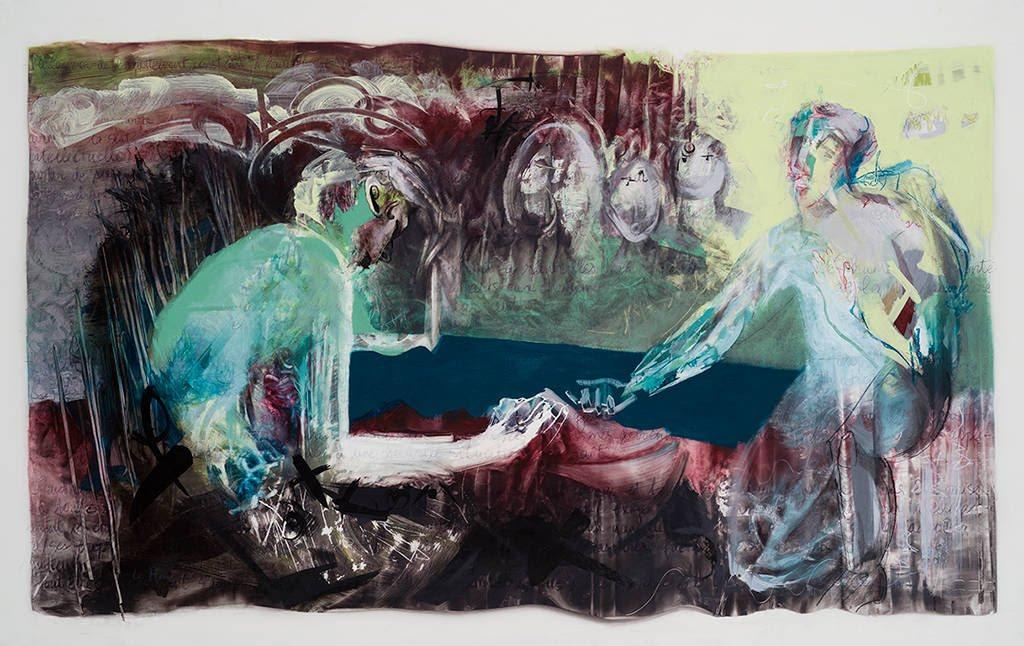 Est-ce moi?, acrylique et crayon sur mylar, 108 x 168 cm, 2015