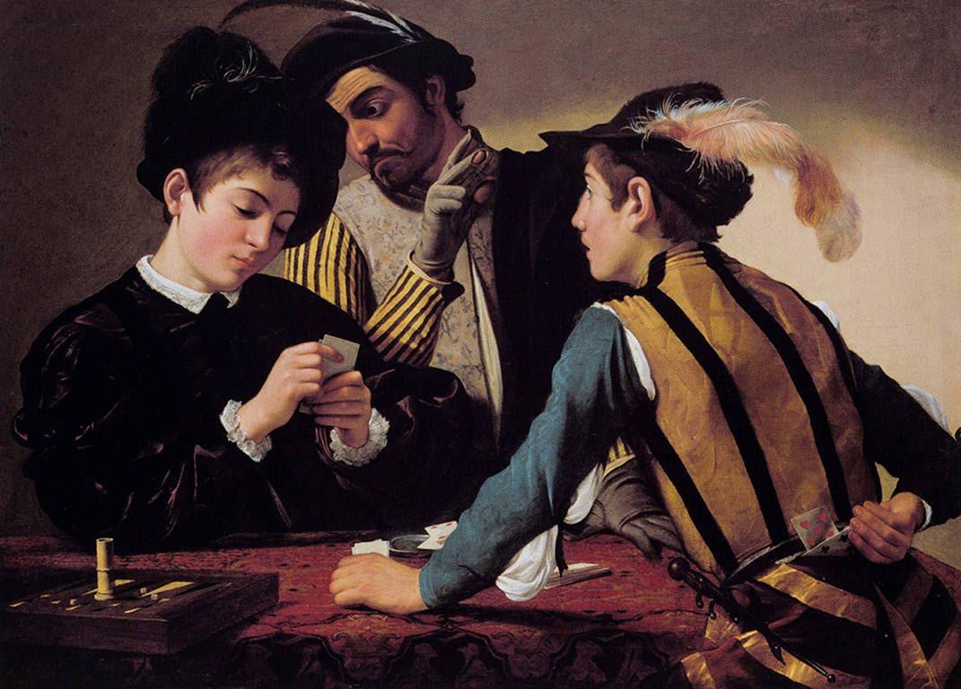 Les Tricheurs, Caravage, 1595