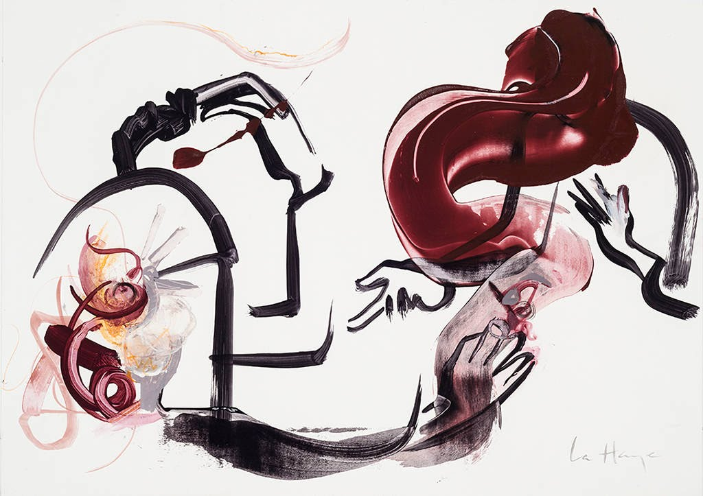 Résilience III, acrylique et crayon sur Teraskin, 33 x 47 cm, 2015