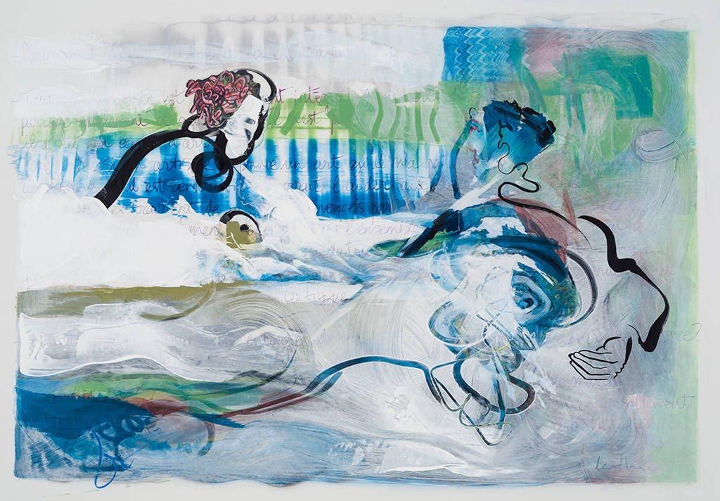 Virginité, acrylique et crayon sur mylar, 72 x 101 cm, 2015