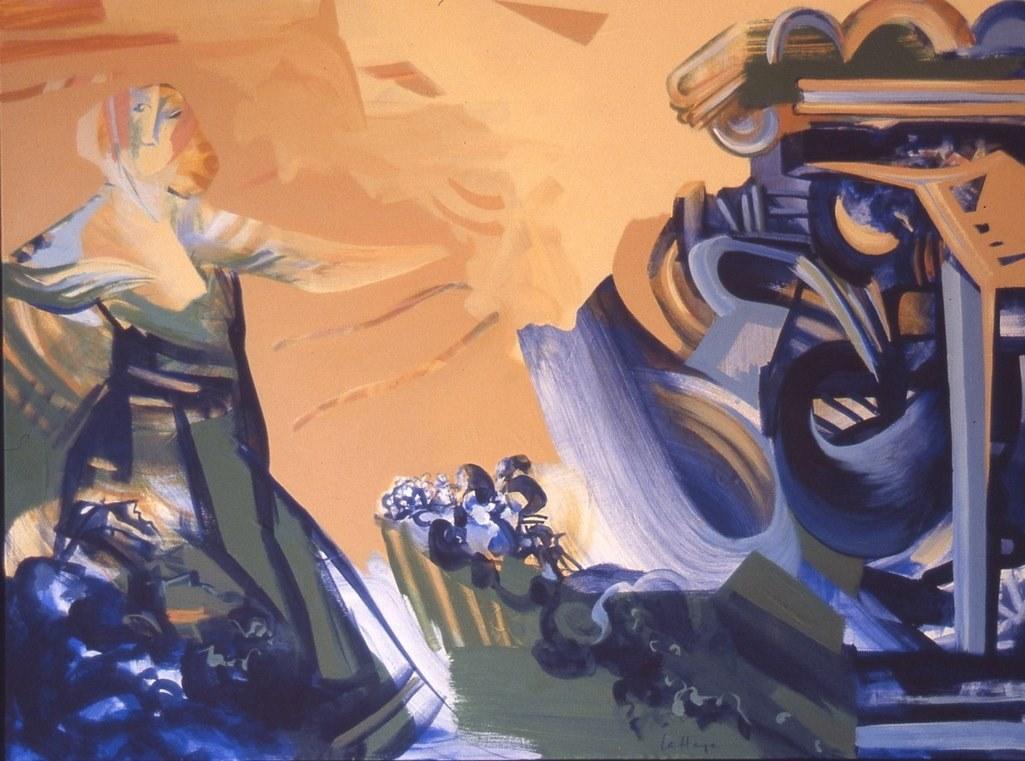 Architecture, acrylique sur toile, 81 x 106 cm, 1994
