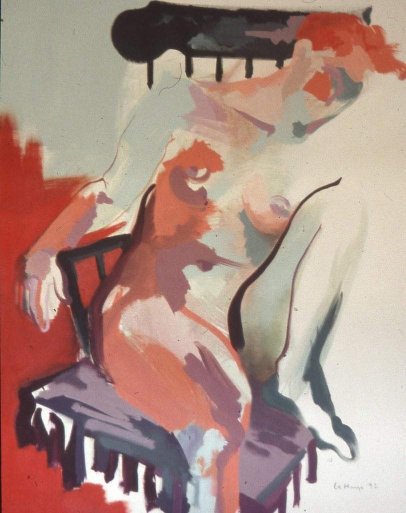 Oser s'abandonner, acrylique sur toile, 152 x 106 cm
