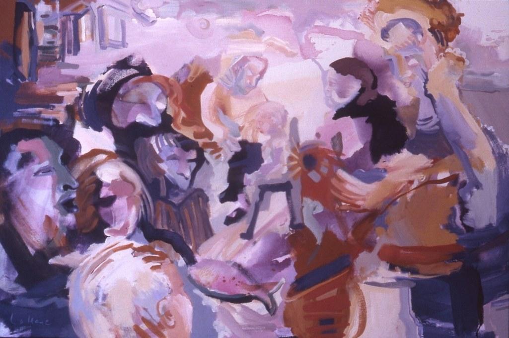 Les enfants, acrylique sur toile, 106 x 152cm, 1993