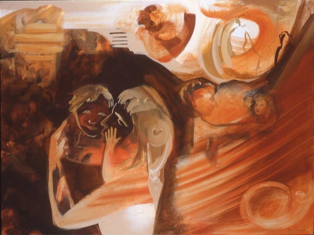 Trésor, acrylique sur toile, 81 x 106 cm, 1994