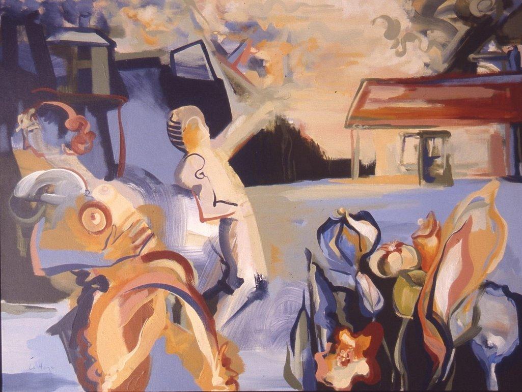 Invitation, acrylique sur toile, 81 x 106 cm, 1994