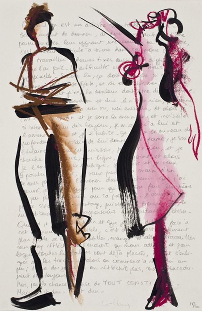 Couple de papier 18, acrylique et crayon sur papier, 38 x 28 cm, 2010