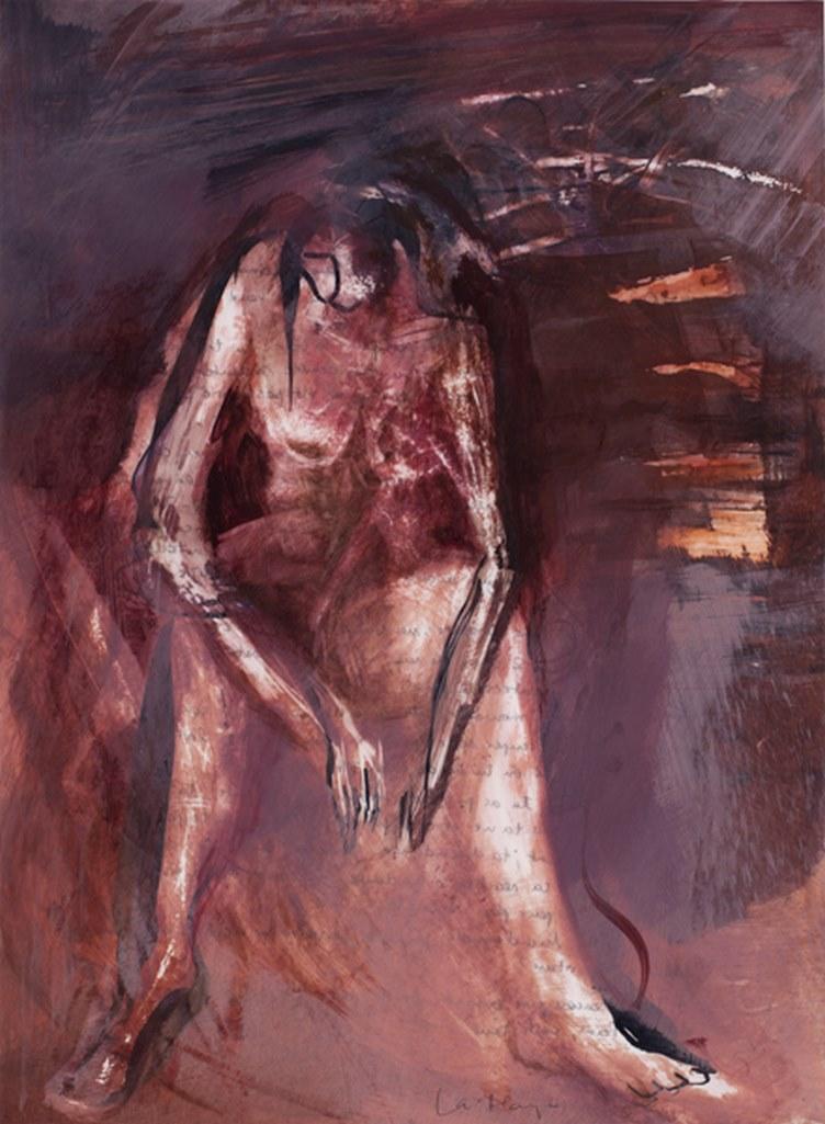 J'ai mal 5, acrylique sur mylar, 42 x 30 cm, 1999