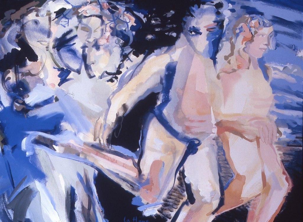 Laisse faire le monde, acrylique sur toile, 106 x 152 cm, 1993