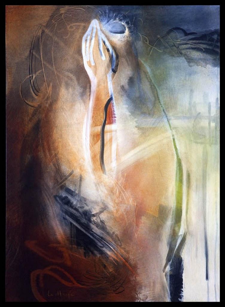 Fomme 63, acrylique sur massonite, 120 x 82 cm, 2009