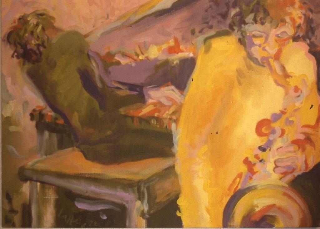 Rage d'affinité, acrylique sur toile, 81 x 106 cm, 1988