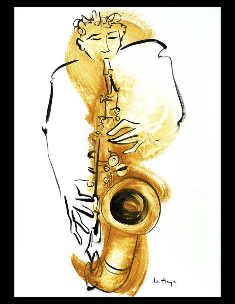 Un son comme une perle, acrylique sur papier, 64 x 45 cm
