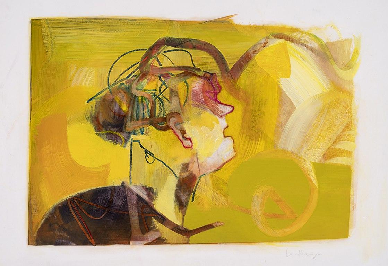 Lever du jour, acrylique et crayon sur mylar, 44 x 59 cm, 2018