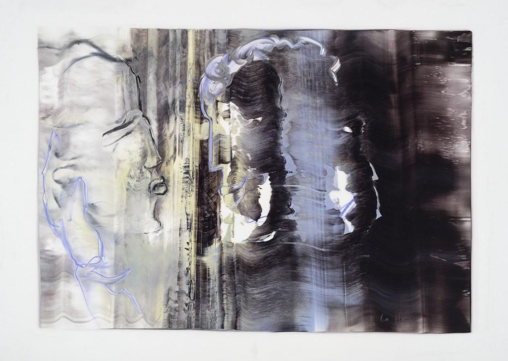 Tu passeras à travers, acrylique et crayon sur mylar, 44 x 60 cm, 2017