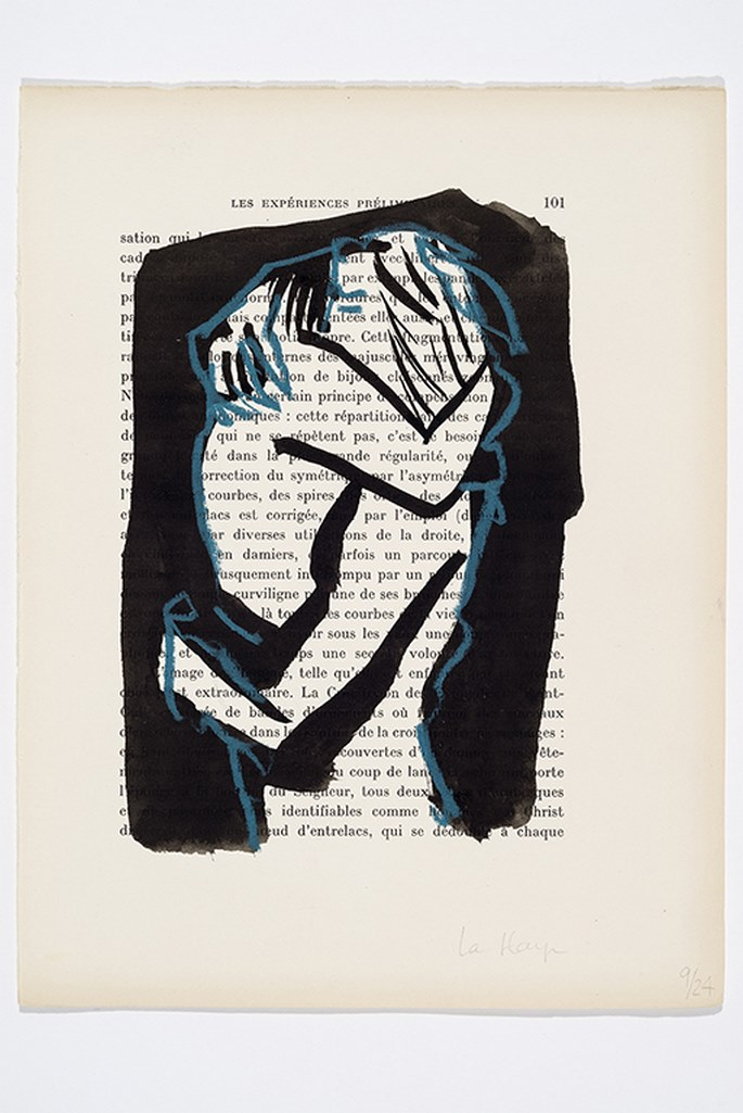Pour toujours, encre et crayon sur page de livre, 26 x 20 cm, 2017