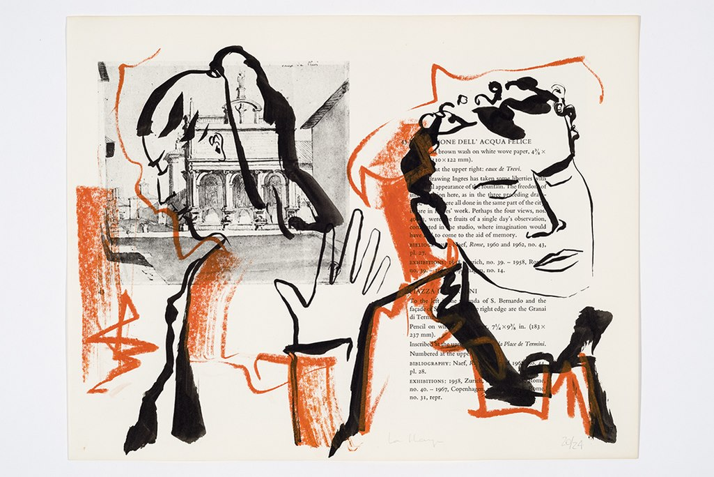 Laisse tomber, encre et crayon sur page de livre, 22 x 28 cm, 2017