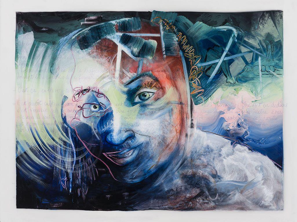 Plus que jamais, acrylique et crayon sur mylar, 108 x 135 cm, 2019
