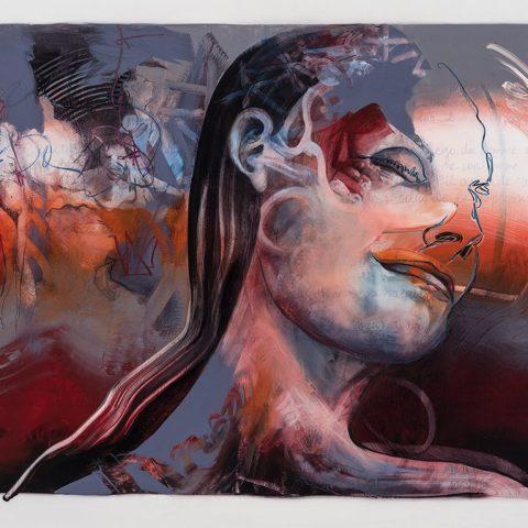 L'Éclosion, acrylique et crayon sur mylar, 108 x 135 cm, 2019