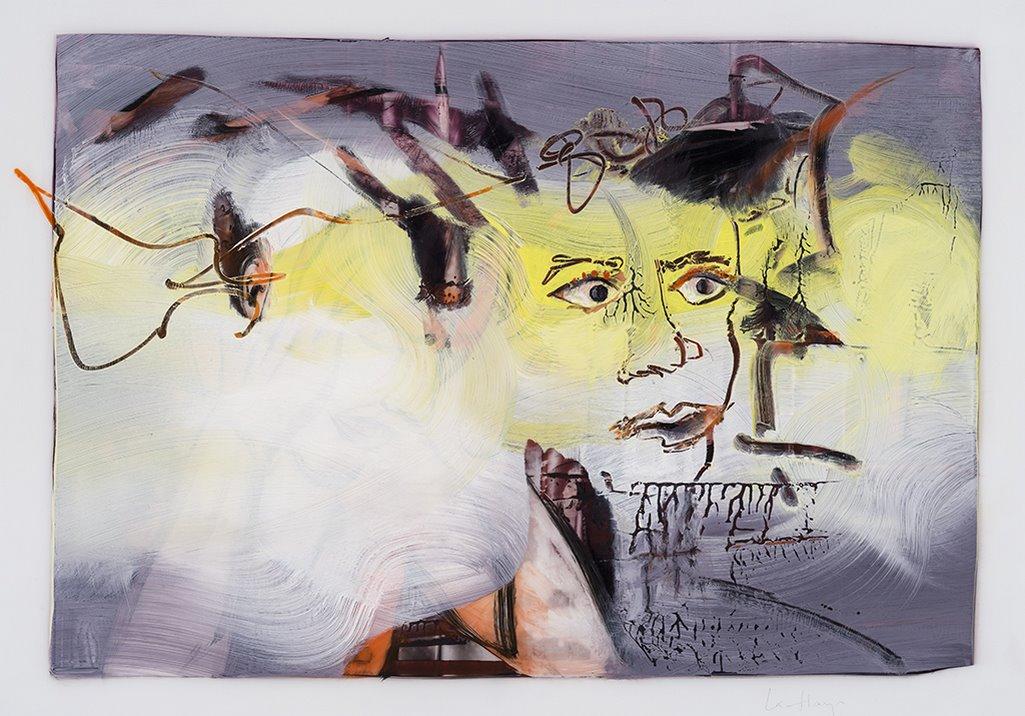 Dataïsme, acrylique et crayon sur mylar, 44 x 59 cm, 2019