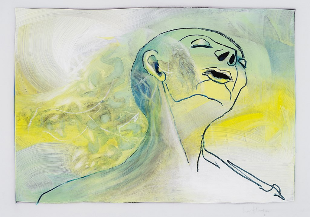 Vivre au XXIe siècle, acrylique et crayon sur mylar, 44 x 59 cm, 2019