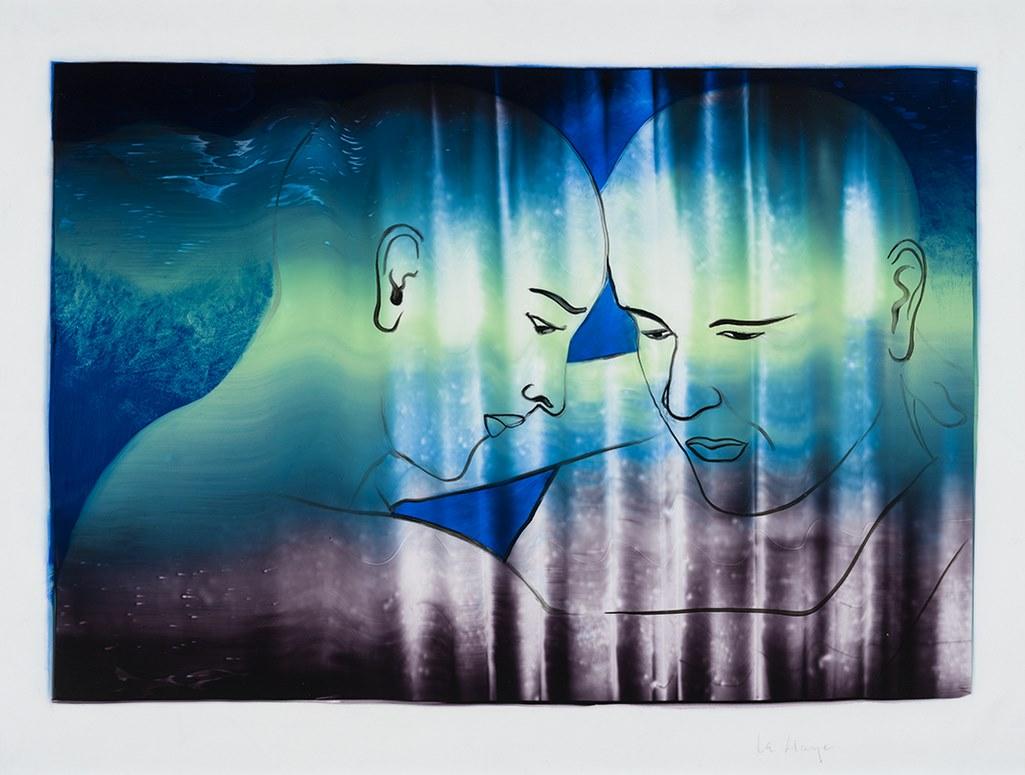 Nous, acrylique sur mylar, 44 x 59 cm, 2019
