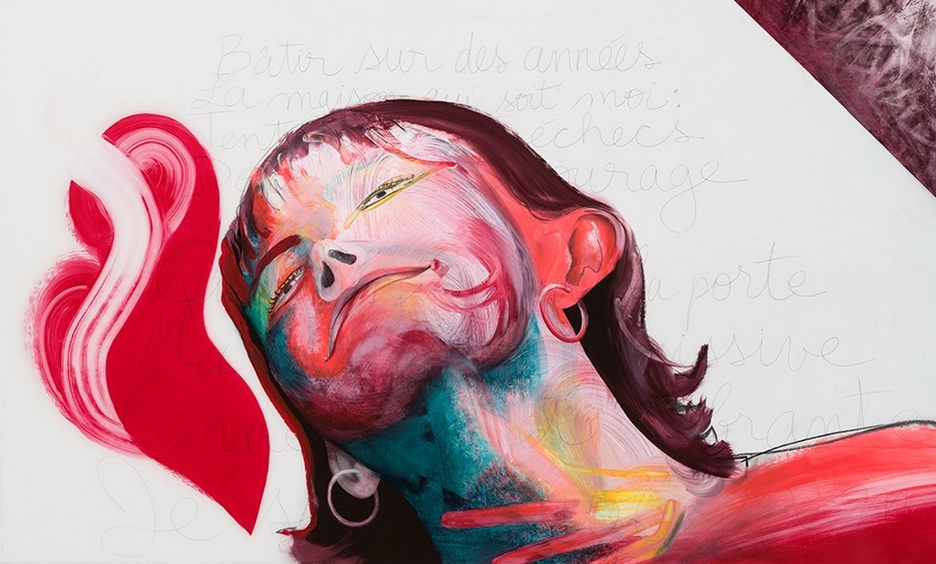 It Hurts (detail), acrylic and crayon on Mylar, 2m x 2m, 2020